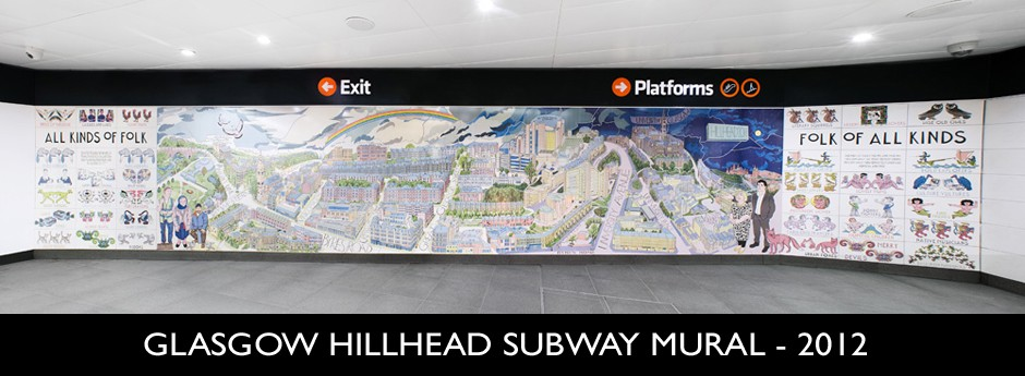 Custom Ceramic Tile Mural | Glasgow Hillhead | Outdoor Murals
