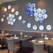 Hilton London Wembley Bone China Plates Wall Mural