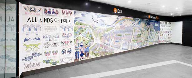 Glasgow hillhead station mural sadlergreen for Alasdair gray hillhead mural