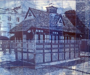 Tile Mural Section- local landmarks in Paddington